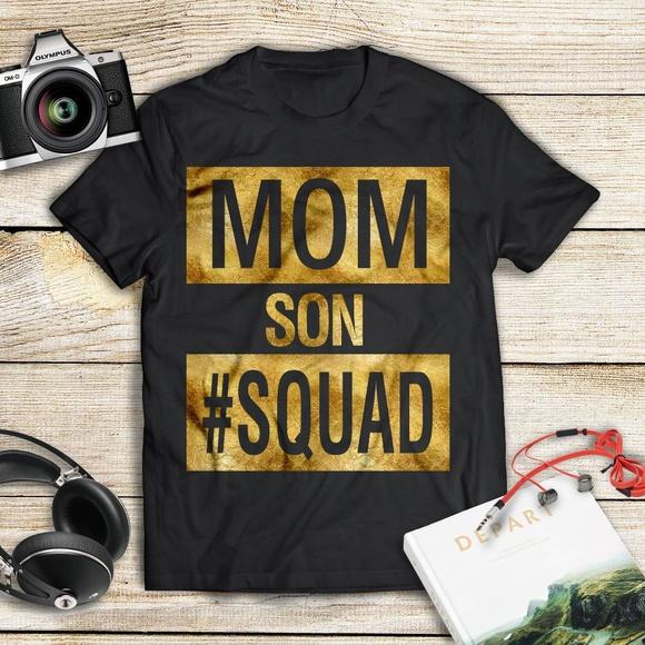 510ae063c ManekiBB Tops | Mom Son Squad Family Matching Tshirt | Poshmark